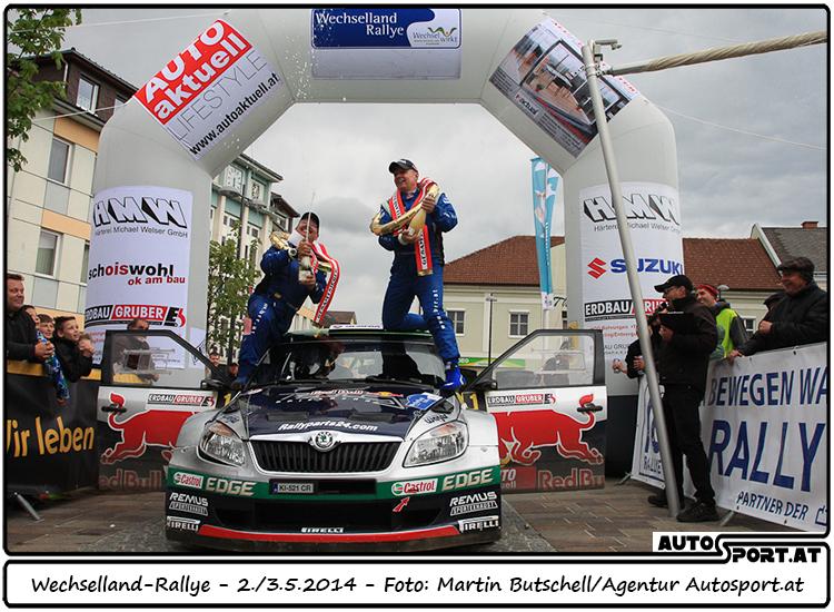 Mehr geht nicht: Raimund Baumschlager holt auch bei der Wechselland Rallye 23 Punkte - Foto: Martin Butschell/Agentur Autosport.at