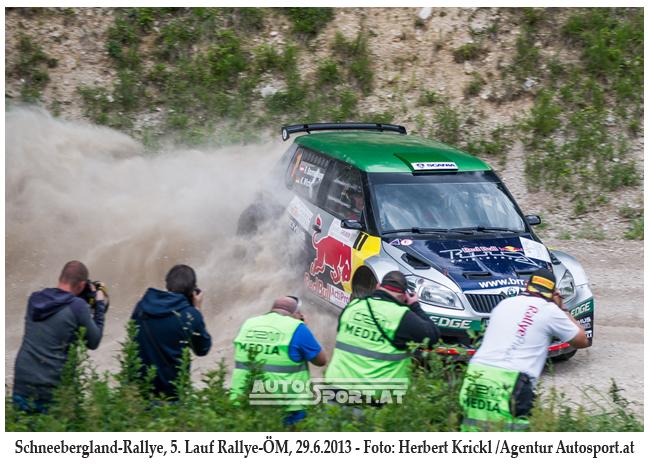 Raimund Baumschlager auch bei Schneebergland-Rallye 2014 im Fokus - Foto: Herbert Krickl/Agentur Autosport.at