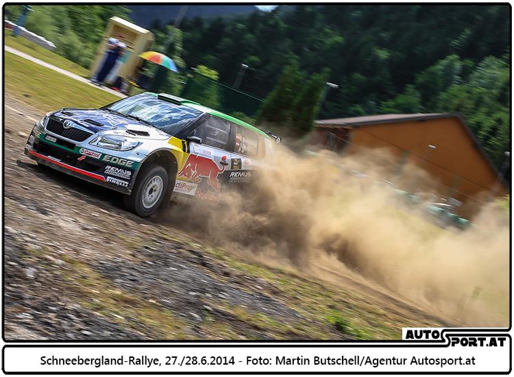 Deutlicher Sieg für Raimund Baumschlager bei der Schneebergland-Rallye 2014 - Foto: Martin Butschell/Agentur Autosport.at