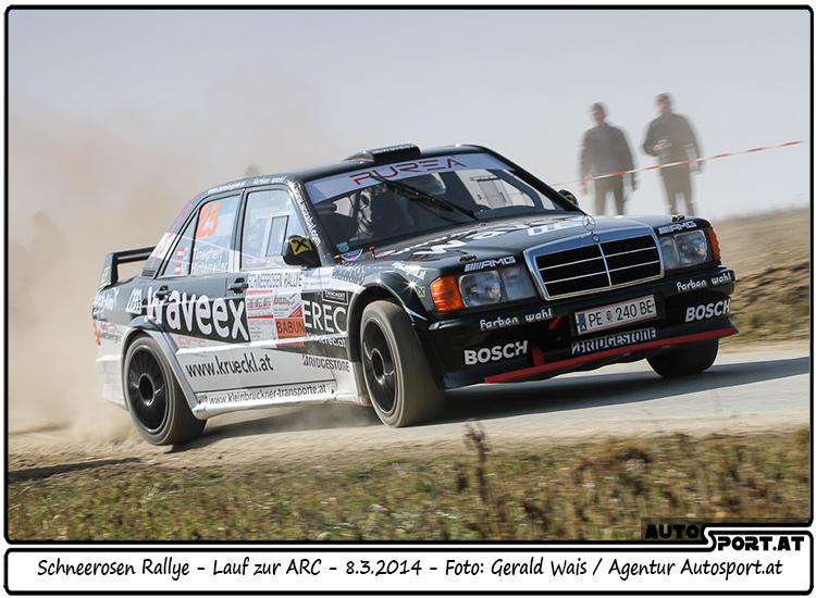 Manfred Hinterreiter mit seinem  Mercedes 190 zuletzt bei der Schneerosen-Rallye im Einsatz - Foto: Gerald Wais/Agentur Autosport.at