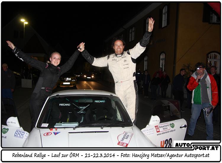 Grund zum Jubeln für Kris Rosenberger bei der Liezen Rallye ? - Foto: Hansjörg Matzer/Agentur Autosport.at
