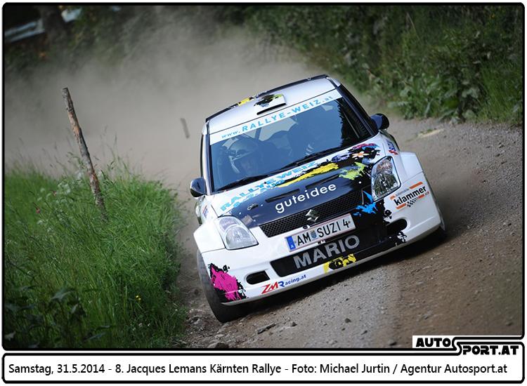 Mario Klammer war zuletzt mit Claudia Dorfbauer und dem Suzuki Swift S1600, eingesetzt von Zellhofer Motorsport, bei der St. Veit Rallye in Kärnten unterwegs - Foto: Michael Jurtin/Agentur Autosport.at