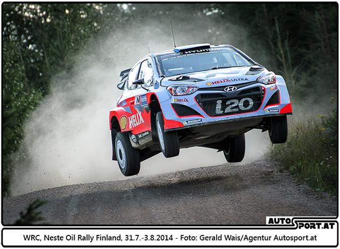 Premiere und Heimspiel für Hyundai bei Rallye Deutschland (hier bei der Rally Finland - Foto: Gerald Wais / Agentur Autosport.at