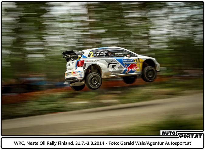 Jari-Matti Latvala, Volkswagen Polo R WRC #2, Neste Oil Finland Rally 2014 - Foto: Gerald Wais / Agentur Autosport.at