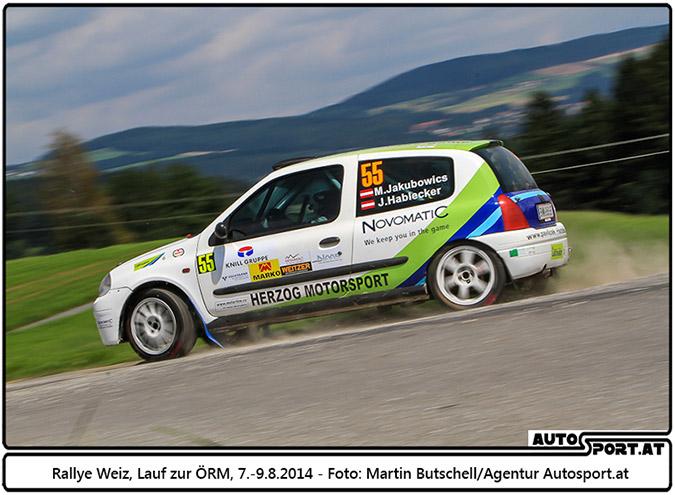 Klassensieg für Martin Jakubowics und Jürgen Hablecker bei der Rallye Weiz - Foto: Martin Butschell / Agentur Autosport.at