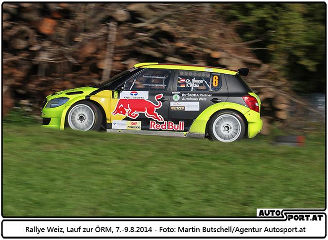 Solide Leistung von Chris Brugger bei Rallye Weiz 2014 - Foto: Martin Butschell / Agentur Autosport.at