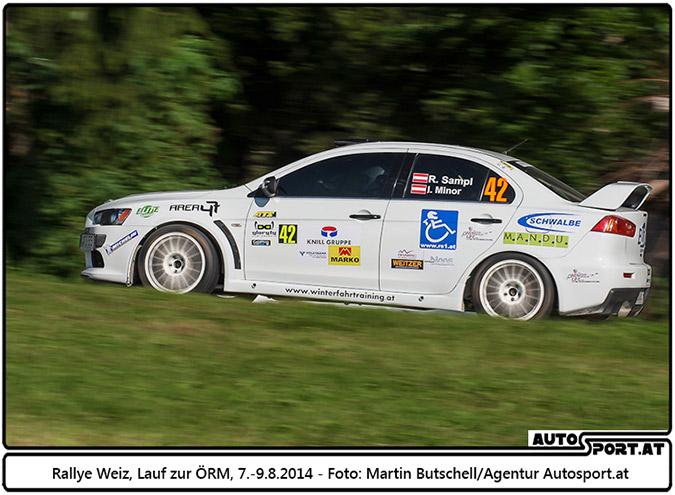 Reini Sampl/Ilka Minor Ausfall bei der Rallye Weiz nach Rendevouz mit einem Strommast - Foto: Martin Butschell / Agentur Autosport.at