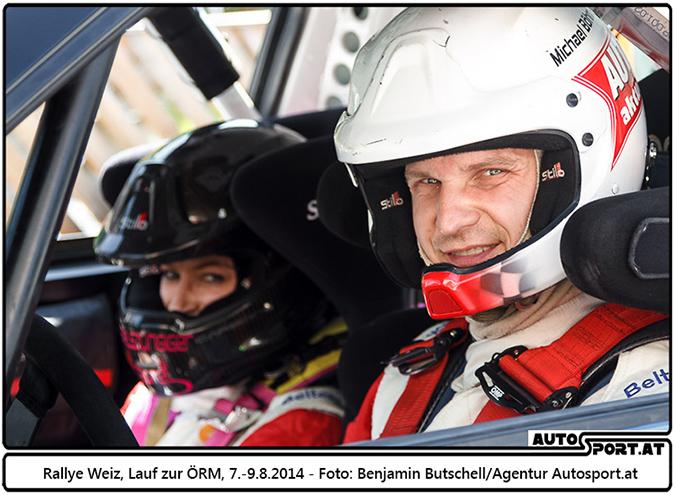 Michael Böhm/Katrin Becker vor der Liezen-Rallye - Foto: Benjamin Butschell/Agentur Autosport.at