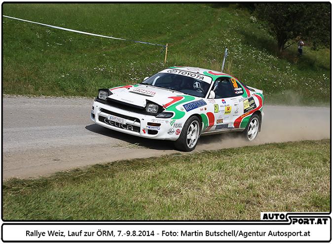 Rallye Weiz 2014: Herbert Weingartner  und Alexandra Auer-Kaller - Foto: Martin Butschell / Agentur Autosport.at