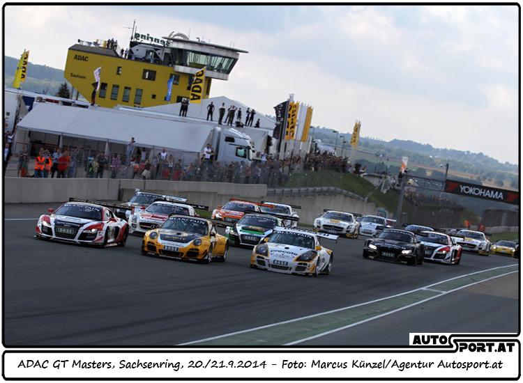 Start zum 1. Lauf der ADAC GT-Masters am Sachsenring - Foto: Marcus Künzel/ Agentur Autosport.at