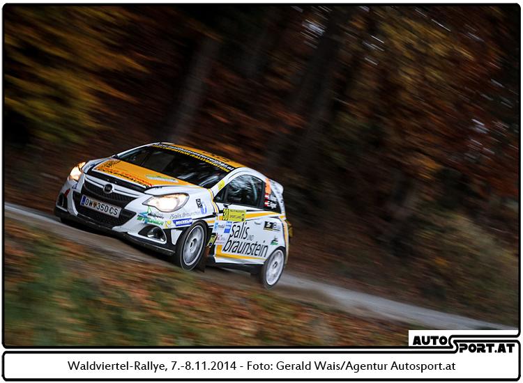 Andreas Kainer gewinnt die Waldviertel Rallye 2014 - Foto: Gerald Wais/Agentur Autosport.at
