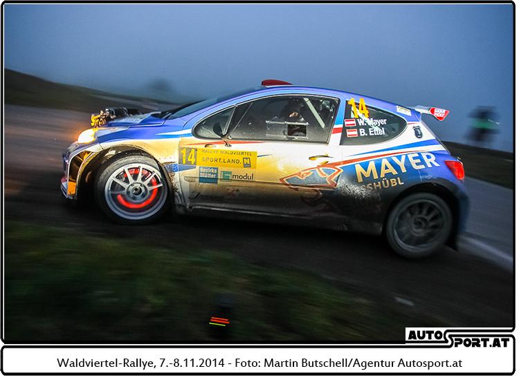 Sensationeller 3. Platz für Walter Mayer bei der Waldviertel-Rallye 2014 - Foto: Martin Butschell/Agentur Autosport.at