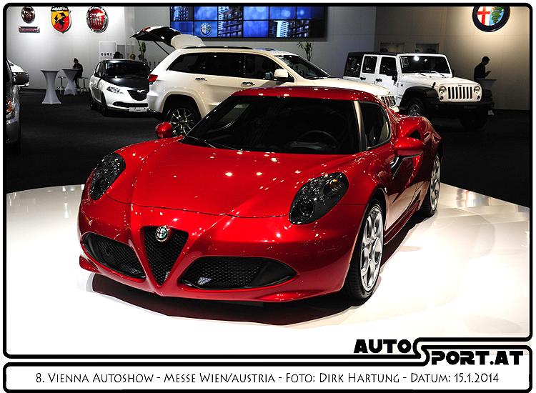 Alfa Romeo 4C - Nach der Premiere 2014 auch heuer ein Highlight auf der Vienna Autoshow 2015 - Foto: Dirk Hartung/Agentur Autosport.at