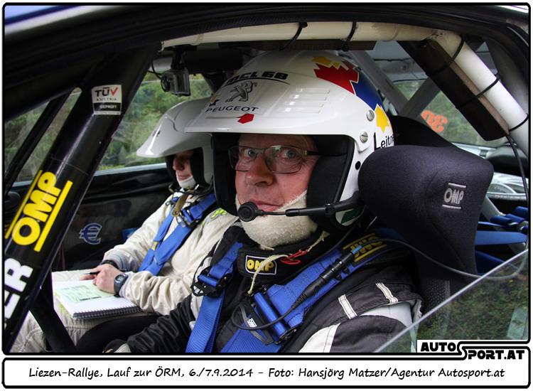 Alfred Leitner und das Peugeot Tasch-Rallyeteam starten in die ÖM 2015 - Foto: Hansjörg Matzer/Agentur Autosport.at
