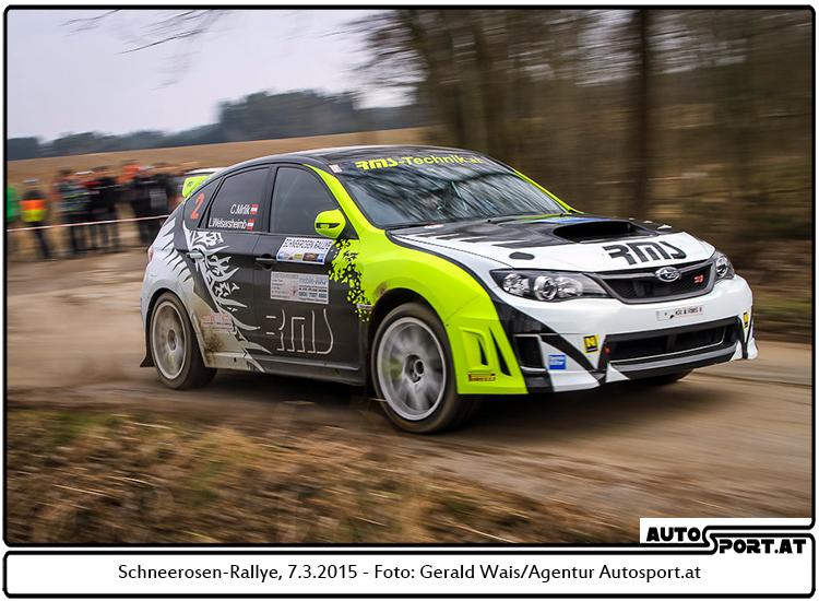 Schneerosen-Rallye: Nächster Sieg für Christian Mrlik - Foto: Gerald Wais/Agentur Autosport.at