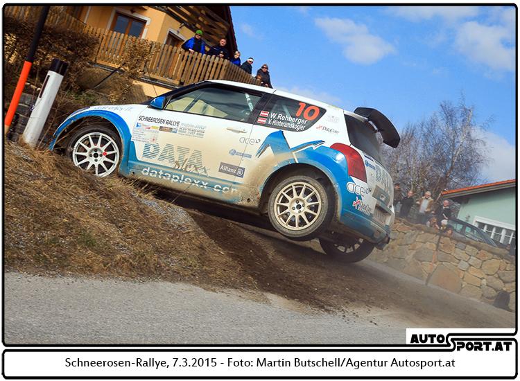 Eine falsche Reifenwahl zu Beginn kostete Wolfgang Rehberger bei der Schneerosenrallye wertvolle Zeit - Foto: Martin Butschell/Agentur Autosport.at