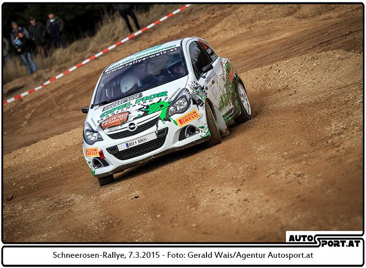 Kevin Raith startet nach der Schneerosen auch bei Rebenland-Rallye - Foto: Gerald Wais/Agentur Autosport.at