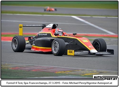 Die neuen ADAC Formel 4 Boliden hier bei inoffiziellen Test in Spa-Francorchamps - Foto: Michael Perey/Agentur Autosport.at
