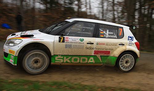 Fabian Kreim ünberraschte bei der Rebenland-Rallye mit Bestzeit in SP 1 - Foto: Martin Butschell/Agentur Autosport.at