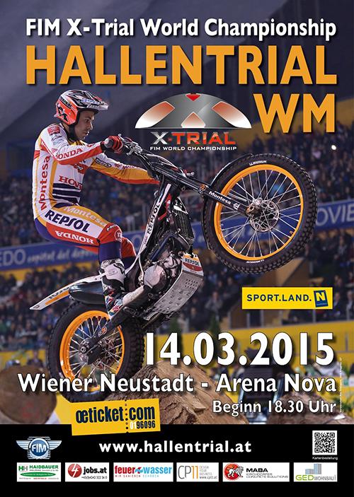 Das Plakat zur Hallentrial-WM 2015 in Wiener Neustadt