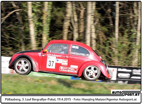 Karl-Heinz Schauperl - immer am Limit mit seinem Käfer - Foto: Hansjörg Matzer/Agentur Autosport.at