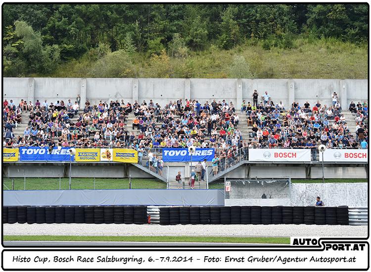 Volle Starterfelder und volle Tribünen: Histo-Cup Bosch Race Salzburg 2015 - Foto: Ernst Gruber/Agentur Autosport.at