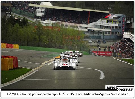 Erstmals startet die Langstrecken-WM wieder auf dem Nürburgring (hier der Start in Spa) - Foto: Dirk Fuchs/Agentur Autosport.at