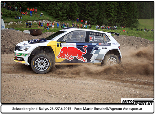 Raimund Baumschlager bei Rallye Weiz 2015 weiter auf der Siegerstraße - Foto: Martin Butschell/Agentur Autosport.at