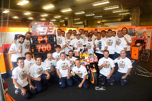 Marc Marquez gewinnt in Indianapolis und damit Hondas 700. Grand Prix - Foto: Honda
