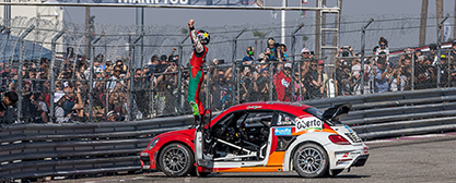 Scott Speed (34, USA) hat erneut die Meisterschaft im Red Bull Global Rallycross (GRC) gewonnen