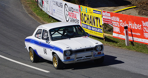 Welcome back: Christian Trimmel nun im Ford Escort RS 2000
